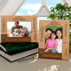 Personalized Family Circle of Strength Wooden Picture Frame