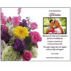 Bridesmaid Personalized Thank You Poem