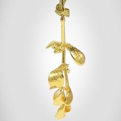 Gold Dipped Mistletoe Christmas Ornament