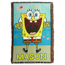 Personalized SpongeBob Throw