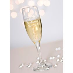 Personalized Make Your Own Champagne Flute Glass