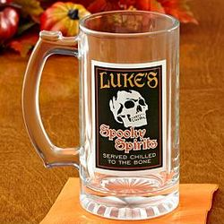 Personalized Spooky Spirits Beer Mug