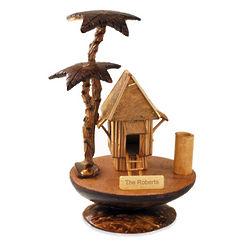 Handmade Wooden Tree Hut on Coconut Shell