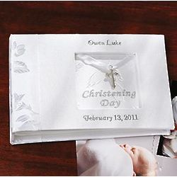 Personalized Christening Photo Book with Cross