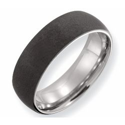 Men's Stone Finish Titanium Ring