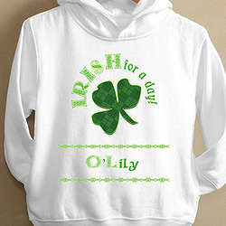 Toddler Personalized Irish for a Day Hoodie
