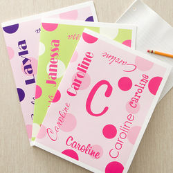 Personalized Name Folders for Girls