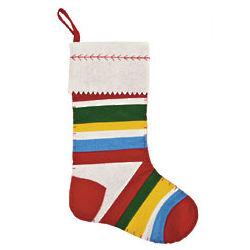 Boy's Striped Christmas Stocking
