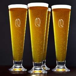 Tall Personalized Pilsner Glass Set