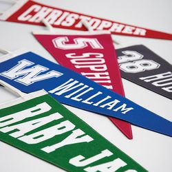 Personalized Old-School Pennant