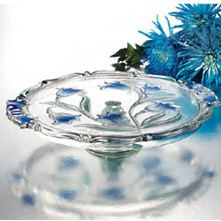 Blue Danube Crystal Footed Cake Platter
