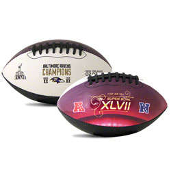 Baltimore Ravens Super Bowl Champions Full Size Football