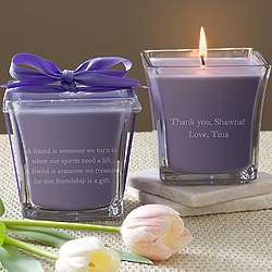 Lavender and Linen For My Bridesmaid Scented Spa Candle