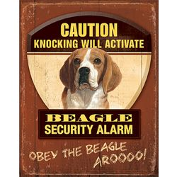 Beagle Dog Breed Patrol Sign