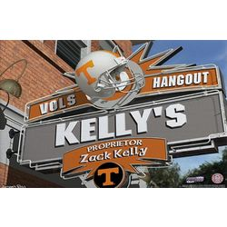 Tennessee Vols Personalized College Football Pub Sign Canvas