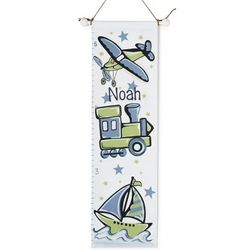 Transportation Hand-Painted Growth Chart