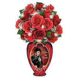 Elvis Love Me Tender Bouquet with Illuminated Crystal Vase