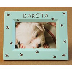 Personalized Hand-Painted Paws Picture Frame
