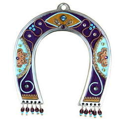 Horseshoe Amulet in Purple