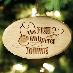 Personalized Fish Whisperer Wood Ornament