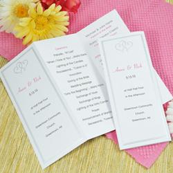 Tri-Fold Platinum Hearts Program Paper Set