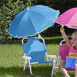 Personalized Child Beach Chair and Umbrella Set