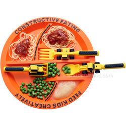 Constructive Eating Plate & Utensils