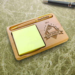 Personalized Football All-Star Wooden Notepad & Pen Holder