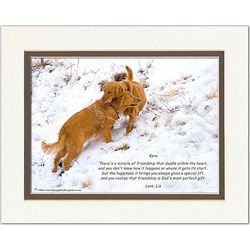 Personalized Friend or Family Poem Dogs Playing Print