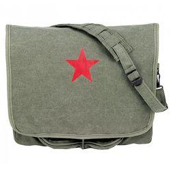 Stonewashed Paratrooper Shoulder Bag with Red Star