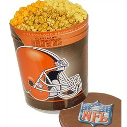 Cleveland Browns 3 Way Gourmet Popcorn Tin