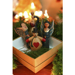 Christmas Magic Wood Ornament Set