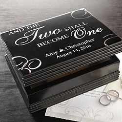 The Two Shall Become One Personalized Keepsake Box