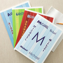 Personalized Name Folders for Boys