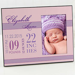 Baby's Big Day Personalized Frame For Girls