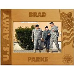 Personalized Wooden Army Frame