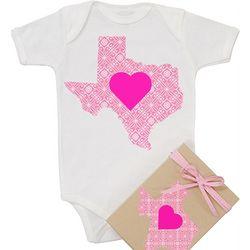 Organic Texas Love Baby Onesie