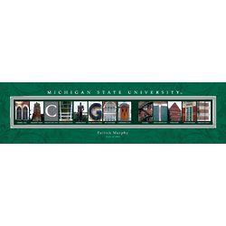 Michigan State University Personalized Architecture Print