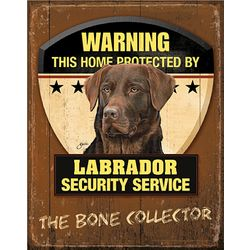 Chocolate Lab Dog Breed Patrol Sign