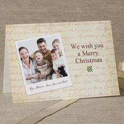 Merry Christmas Photo Personalized Christmas Cards