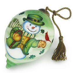 Hand Painted Irish Merry Christmas Ornament