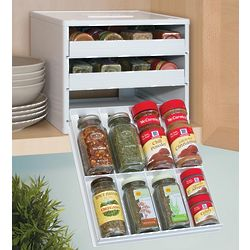 Spice Organizer Rack with Labels