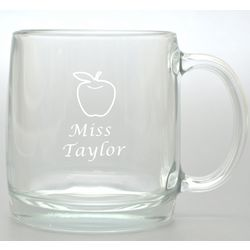 Teacher's Personalized Apple Large Glass Mug