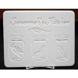 Personalized Kitchen Jars Cutting Board