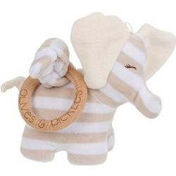 Organic Elephant Plush Toy and Teether
