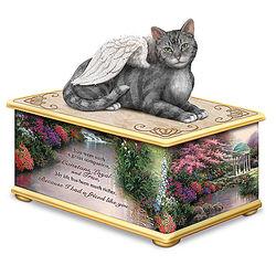 Thomas Kinkade My Forever Friend Cat Memorial Memory Box