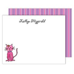 Personalized Kitty Kitty Flat Notes