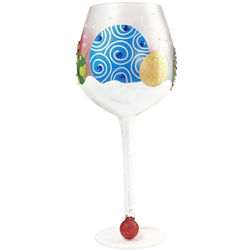 Snow Ornaments Super Bling Wine Glass