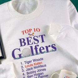 Personalized Top 10 Best Golfers Sweatshirt