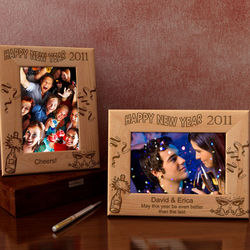 Personalized Happy New Year Wooden Picture Frame